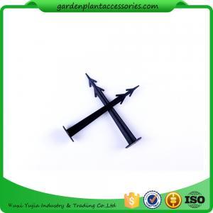 Best Plastic Screw In Garden Ground Anchor For Netting Fix 27cm Length Black Plastic Garden plant accessories wholesale