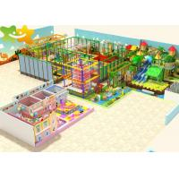 China 1200m² Kids Indoor Playground Equipment Ninja Warrior Obstacles Course on sale