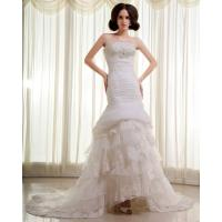 Best Slim Beaded Sequin Strapless Wedding Gowns layered Lace Wedding Dresses wholesale
