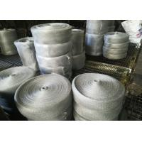 Best Multifilament Engineering Stainless Steel Knitted Mesh For Shielding / Filtering wholesale