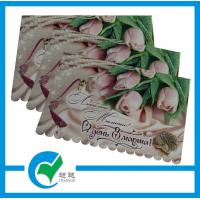 China Personalised Handmade Beautiful Colored Sweet Rose Die - cut Holiday Greeting Card Stock Paper  on sale