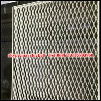 Expanded Metal Panels : Details of decorative aluminium expanded wall panel