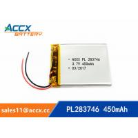 Best 3.7v lithium polymer battery with 450mAh 283746pl li-ion rechargeable battery OEM manufacturer wholesale