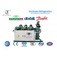 Best Fresh beef cooling storage R404a Bitzer brand screw type parallel compressor racks wholesale