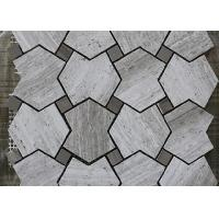 Best Grey Serpeggiate Marble Mosaic Pattern Tiles , Indoor Marble Mosaic Floor Tile wholesale