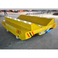 Best 10T Production Line Plastic Coils Handling Railway Mounted Rail Guided Transfer Cart With V-Frame wholesale