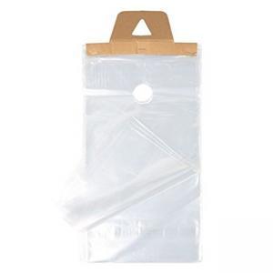 Best Plastic Clear Waterproof and Secure Door Knob Hanger Bags Poly Newspapaer Bags wholesale