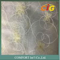 Best 60 G/M2 Polyester Material Home Textile Products Embroidered Voile Curtain Fabric wholesale