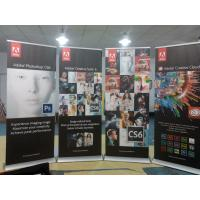 Cheap Trade Show Retractable Display Banners , Table Top Retractable Banners 80*200cm for sale