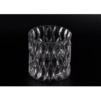 Best 36OZ Large Wax Luxury Glass Votive Candle Holders With Pattern wholesale