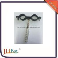 Quality Black Coating Galvanized Iron / Stainless Steel Pipe Clips M6 With Screw wholesale