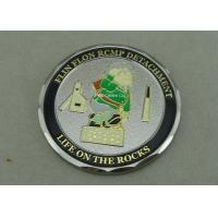 Buy cheap Zinc Alloy Personalized Coins , Diamond Cut Edge Army Coin Double Tones Plating from wholesalers