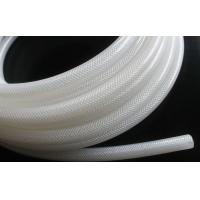 Best High Purity Fiber Braided Silicone Tubing No Smell Translucent Natural Color wholesale