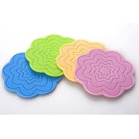 Best Octagonal shape silicone cup mat with 4 color choose wholesale