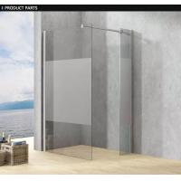 Best Frameless Clear Glass Shower Enclosure , Single Frameless Glass Shower Door wholesale