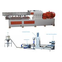 Best PP Caco3 Double Screw Extruder Granulation Machine Water Ring Cutting System wholesale