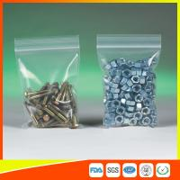 Cheap Clear Packing Ziplock Bags For Hardware Packaging , Plastic Bag With Zipper for sale