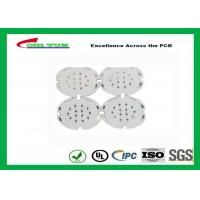 Best 1 Layer PCB LED Aluminium Base Printed Circuit Board , White Solder Mask wholesale
