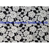 Best White Polyester Children'S Clothing Fabric Water Soluble Embroidery Lace for Dresses or Decoration wholesale