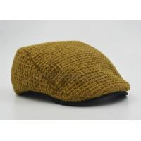 China Customized Ladies / Women Peaked Duckbill Hat Ginger With Cotton Lining 56 cm on sale