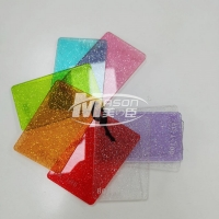 Best 3mm 1220x2440 Colorful Red Yellow Blue Glitter AcrylicSheet For Craft Decorative wholesale