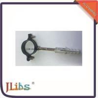 Quality 8mm - 54mm Galvanized Pipe Clamps , M6 Single Pipe Clamps With Black Coating wholesale