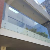 Cheap Stainless Steel Glass Standoff Tempered Laminated Glass Balcony Railing for sale