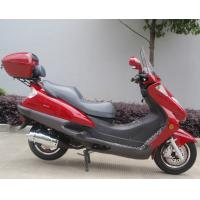 Quality Two Headlights Blue Adult Gas Scooter , 150cc Motor Scooter With 2 Seats Real Leather wholesale