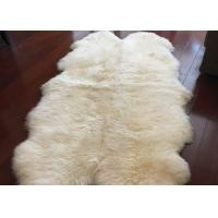 Cheap Real Sheepskin Rug Extra Large Sheepskin Area Carpet Soft Fur 6P White Six Pelts for sale