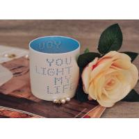 Best Votive Cylinder Ceramic Candle Holders Charater Hole Hand Made wholesale