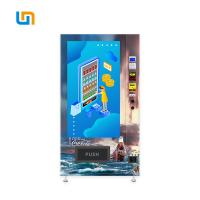 China Cola Pepsi Sprite Bottled Canned Vending Machine With Cooling System Advertising Screen on sale