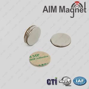 China 3M Adhesive Disc Shape Neodymium Magnets on sale