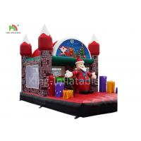 China Merry Christmas Inflatable Santa Claus Bouncy Castle For Xmas Decoration 20ft on sale