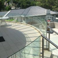 Best High Quality Outdoor Curved Aluminum Glass Balustrade / Glass Railing wholesale