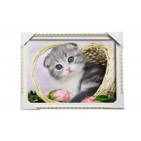 Cheap Love Cat Image Lenticular 3d Pictures Decoration Craft Modern PS Frame For House for sale