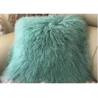Cheap Rectangular Colorful Mongolian Lamb Cushion Cover , Soft Fuzzy Decorative for sale