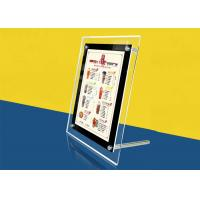 Best Table Stand Ultra Thin Lightbox Menu Display , A4 Size Acrylic Illuminated Menu Box wholesale