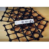 Best 50-50 kn/m  Geogrid Reinforcing Fabric PP Biaxial Geogrid Mesh aperture 3-4cm wholesale