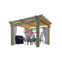 Best 4m X 4m Double Layers Pergola Kits With Roof , Waterproof Outdoor Pergola Kits wholesale