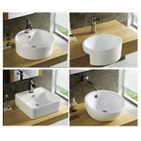 Cheap basin with wall hung mounted single hole faucet hole hotel furniture for sale