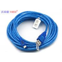 Best Blue Transparent Micro USB Data Cable Micro 5 Pin USB 156g Net Weight wholesale