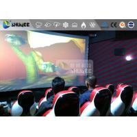 Best Interaction Reality 7D Movie Theater With Red Fiber Glass Motion Seats wholesale