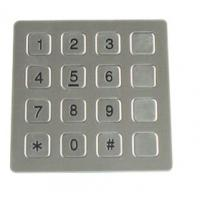Best Vandal Resistant Phone Keyboard , Stainless Steel Keypad With 16 Keys wholesale