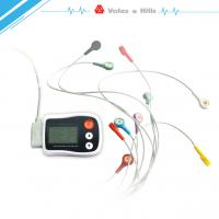 Best Portable Holter ECG black Recorder With LCD , Holter Heart Monitor FDA Approved wholesale
