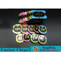 Best Difficult To Distort Authentic Casino Poker Chips , Crystal Dice Poker Chips  wholesale