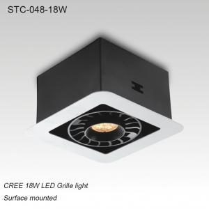Best Indoor IP40 adjustable surface mounted square 18W LED grille light for supermarket wholesale