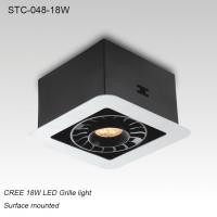 Best Indoor IP40 adjustable surface mounted square 18W LED grille light for supermarket wholesale
