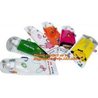 Best Spouted flexible foldable water bag with carabiner for running, flexible printing and lami wholesale