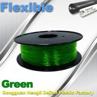 Best Green 0.8kg / Roll Flexible 3D Printer Filament Environmentally Friendly wholesale