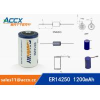 Best ER14250 3.6V 1.2Ah 1/2AA lithium battery wholesale